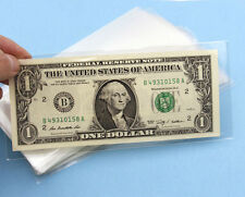 Lots 100 Pcs 17cm*7.5cm Currency Sleeves Holders Banknotes Note Paper Money 3#