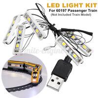 ONLY LED Light Lighting Kit For LEGO 60197 Passenger Train Building Block  Д