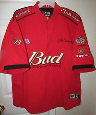 Dale Earnhardt Jr #8 NASCAR Budweiser Half Zip Red Shirt Size XL by Chase