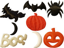 Lot 8 Halloween Craft Padded Satin Sewing Appliques Scrapbooking Embellishments