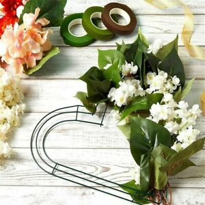 Metal Wreath Frame Ring DIY Heart Shaped Macrame Floral Crafts Wire Wreath
