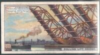 Rolling Lift Bridge Drawbridge Bascule Bridge 90+ Y/O Trade Ad Card
