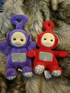 2 X Teletubbies Plush Flocked Face Super Soft 20 Cms Po And Tinky  Winky 2015