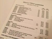 MERRY TILLER Accessories 1990 Price List