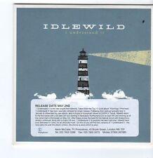 (FA140) Idlewild, I Understand It - 2005 DJ CD
