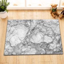 Kitchen Bathroom Non-Slip Shower Bath Door Mat Rug Black Marble Texture Domolite