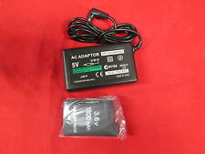 Home Travel Wall AC Charger And Battery Pack For Sony 1000 For PSP 0458