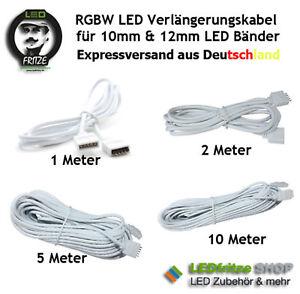 RGBW RGBWW Verlängerung - Kabel 1m 2m 5m 10m für 10mm & 12mm LED Band 5 polig