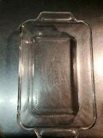 Vintage ANCHOR HOCKING Ovenware Clear Glass DISH 1 Quart   6x 9 x 2 inches