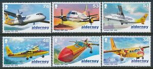 2008 ALDERNEY AURIGNY AIR SERVICE 40th ANNIVERSARY SET OF 6 FINE MINT MNH