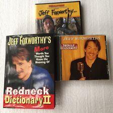 Lot Of 3 Jeff Foxworthy Book CD & DVD