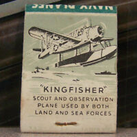 Rare Vintage Matchbook S4 Navy Kingfisher Scout Airplane Plane Bond Bread Sea