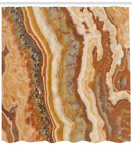 Marble Shower Curtain Watercolor Mineral Form Print for Bathroom 70 Inches Long