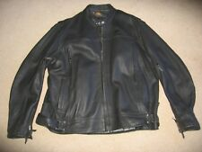 Powertrip PowerGlide Leather Motorcycle Jacket,  Mens size 2XL