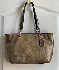 NEW Coach Small Sophia Gold leather tote bag purse