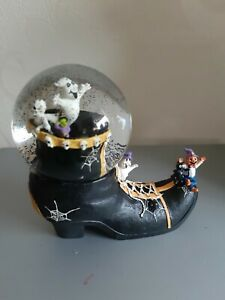 Tkmaxx Halloween Musical Witches Boot Snowglobe