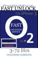 o2/giffgaff /Tesco ✅iPhone X,XR,8/8+,7/7+,6s/6s+,SE To 3gs✅Fast UNLOCK Service✅