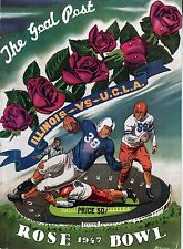 1947 Rose Bowl Football program Illinois Fightin' Illini vs. UCLA Bruins ~ Fair