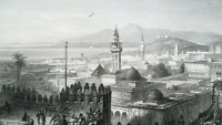 TUNIS in Tunisia View of Capital City Africa - 1863 Original Antique Print