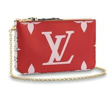 NWT LOUIS VUITTON GIANT POCHETTE DOUBLE ZIP Red Pink