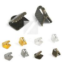 End Ribbon Crimp Connectors Necklace Bracelet DIY Crafts Jewelry Findings