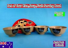 Set of 4 Melamine Gold Rice Soup Fruit Serving Bowls - B1004 New (B137)