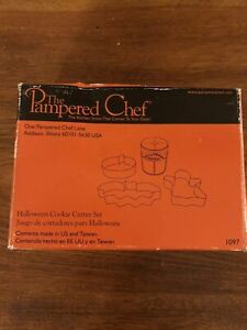 Pampered Chef Halloween Cookie Cutter Set MIB-FUN for ALL Ages!