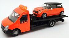 Burago 1/43 Scale #18 31400 - Bmw Mini Car And Generic Flatbed Truck