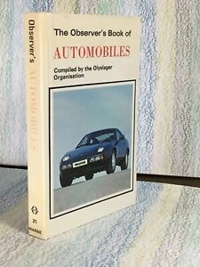 Observer's Book Of Automobiles laminated Very Good 1979 Olyslager organisation