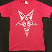 BAPHOMET Goat Head PINK T Shirt HALLOWEEN costume Satanic Clothing Pentagram S-X