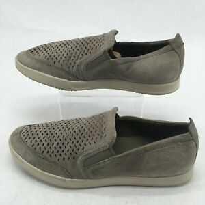 Ecco Mens 11 Collin 2.0 Casual Slip On Comfort Shoes Grey Leather 53628402375
