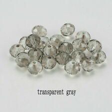 Glass Spacer Beads For Earring Bracelet New Diy 100Pcs 4Mm Gray Round Crystal