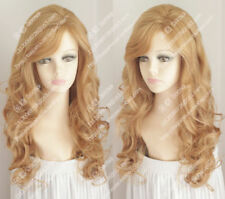 new wig 2018 Strawberry Blonde Fluffy curly hair wave of fashionable women wig
