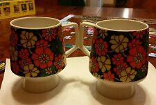 "Set of 2 vintage stackable  ""Mann made mugs""exclusive Japan"