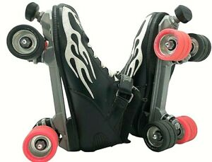 Rock Skates Speed Freaks 2x2 Roller Skates Size 12 Black  Sure Grip