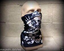 """Scaldacollo Passamontagna copertura naso faccia maschera """" Multi testa di morto"""