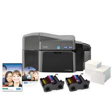 FARGO DTC1250e Dual Side Photo ID Card Printer Bundle