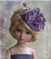 PURPLELICIOUS Fascinator Doll Hat  Ellowyne, Prudence,Kitty Collier,Betsy McCall