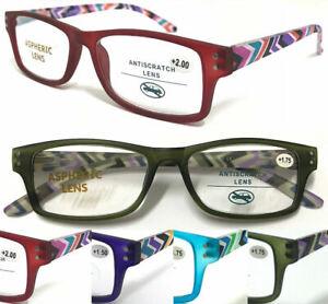 S883 Superb Quality Reading Glasses/Spring Hinges & Stylish Pattern Arm Designed
