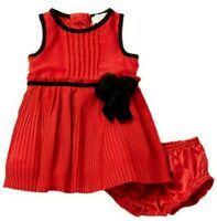 Kate Spade Pleated Chiffon Dress, Red/Black, 24 Months