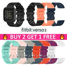 Replacement Silicone Rubber Sport Band Strap Wristband For Fitbit Versa 2 1 Lite