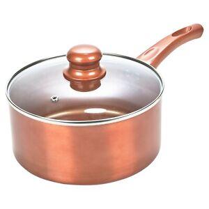 Ceramic Copper Steel Induction Cooking Pots Saucepans Kitchen Cookware Lidded