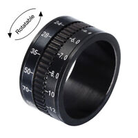 Fashion Men Women Camera Lens Design Rings 12MM Jewelry Alloy Band Size 7-12 New