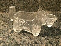 Vintage Victory Glass Jeannette PA Miniature Scotty Dog Candy Container #8