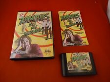 Zombies Ate My Neighbors (Sega Genesis, 1993) COMPLETE Box manual game WORKS! K1