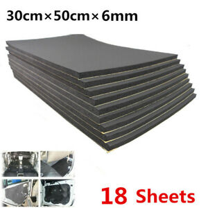 30x50cm Car Engine Bonnet Sound Deadener Heat Mat Noiseproof Firewall Insulation