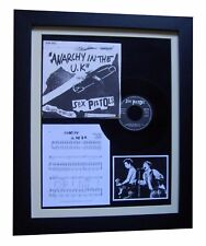 """SEX PISTOLS Anarchy In The UK 7"""" VINYL GALLERY FRAMED DISPLAY+FAST GLOBAL SHIP"""