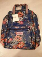 BNWT Cath kidston backpack, rucksack, navy blue, floral