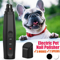 Electric Dog Toe Nail File Grinder Clippers Pet Cat Claw Grooming Trimmer