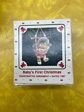 1987 Hallmark Baby's First Christmas ornament